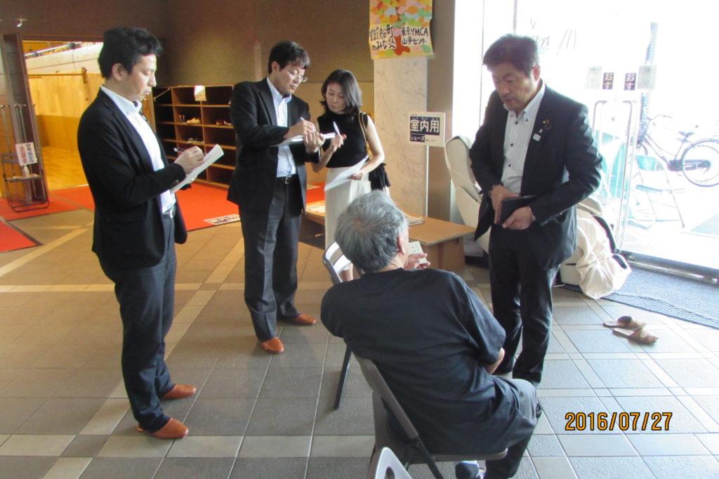熊本地震、福祉避難所の状況などを視察しました